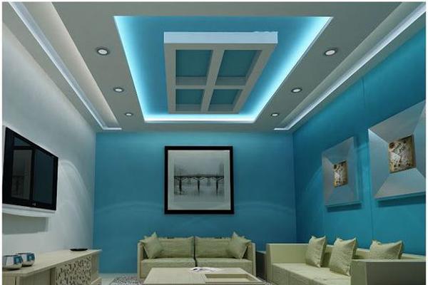 trần thạch cao phòng khách hcm