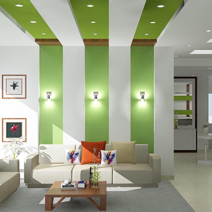 Làm vách ngăn thạch cao phòng khách đẹp, hiện đại tại hcm